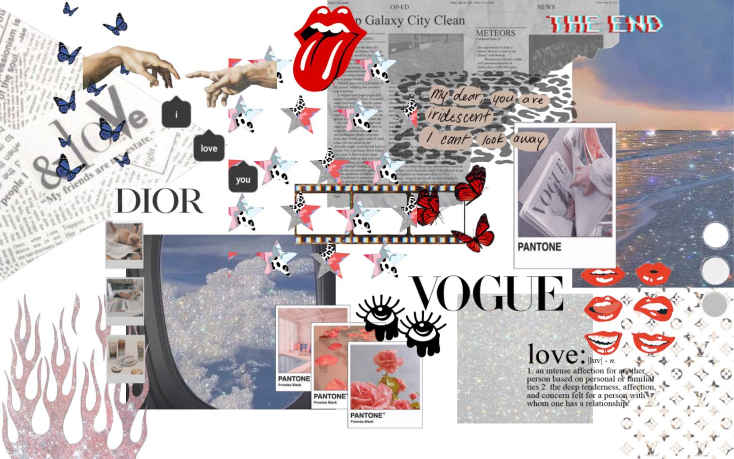 Fashion Collage Macbook Wallpaper In 2020 Macbook Wallpaper Aesthetic Desktop Wallpaper Laptop Wallpaper