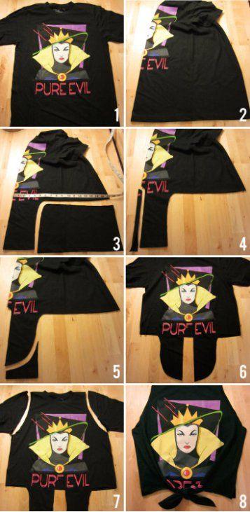 10 formas de você renovar a sua camiseta com recortes Mais 0e4a9e92e29