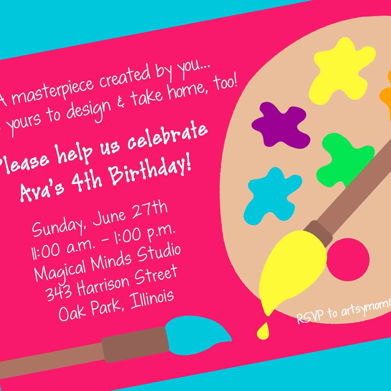 It's just an image of Massif Free Printable Paint Party Invitations