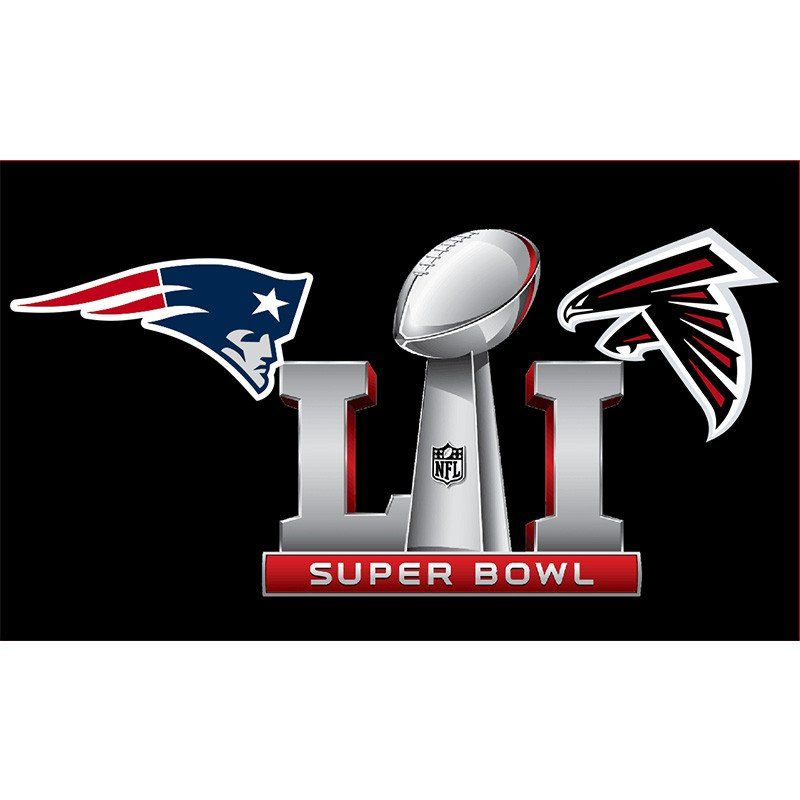 d3686650a70 Atlanta Falcons vs New England Patriots Super Bowl Championship Flag 3x5 ft