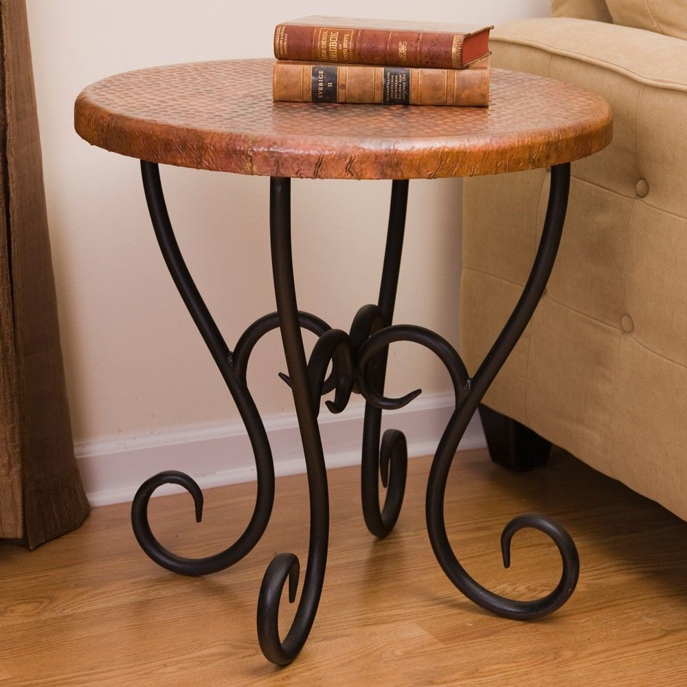 Medium Wrought Iron End Tables In 2019 Rustic