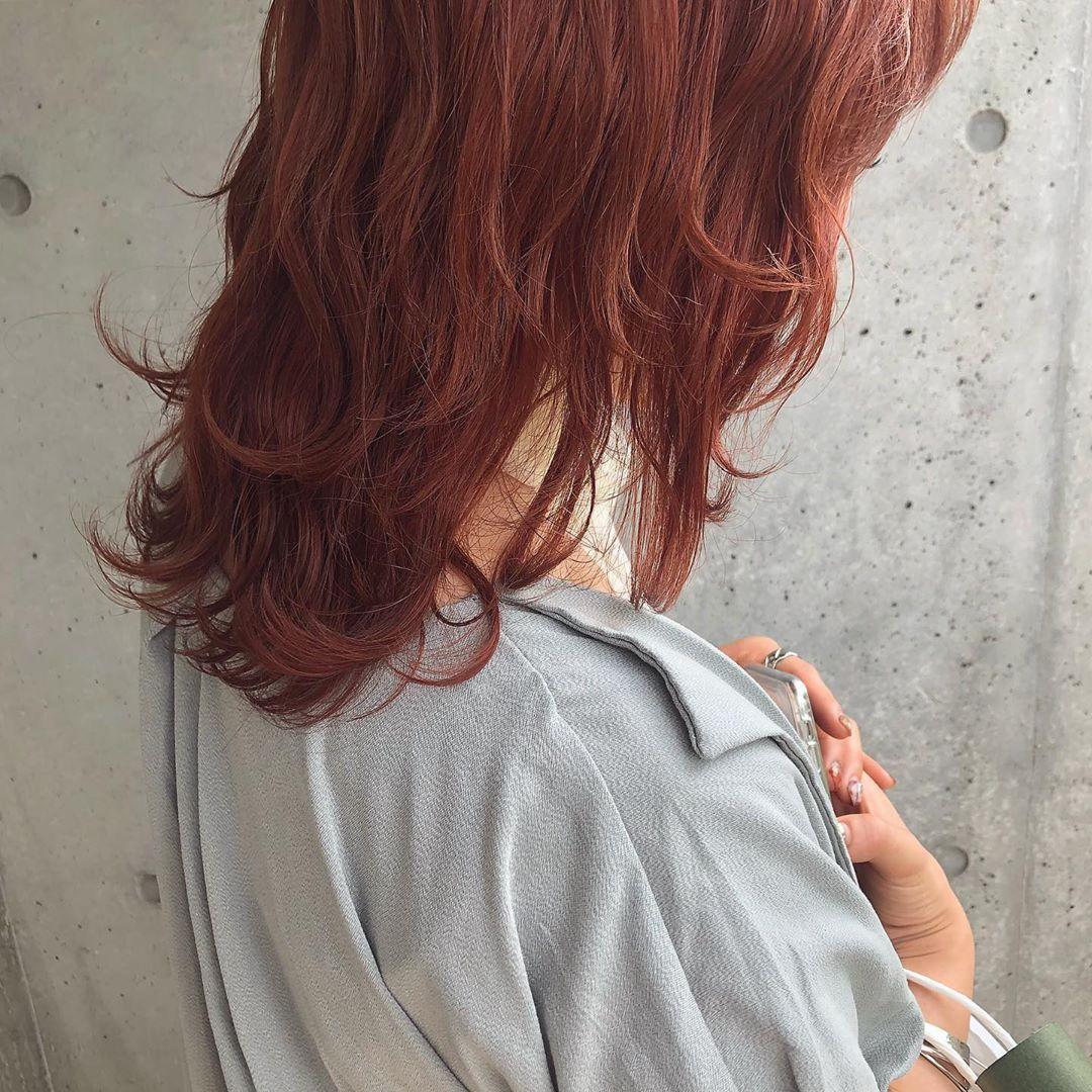 カラーモデルさん募集してます Hair Make ヘアカラー オレンジ