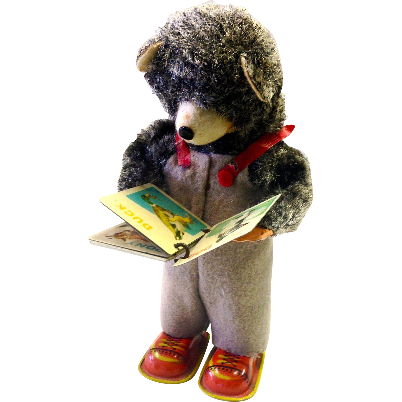 Wind up bear reading a book