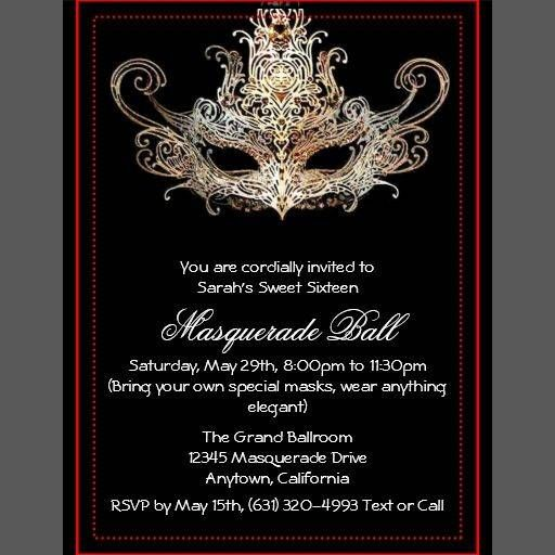 58 best masquerade ball invitation templates template free ideas