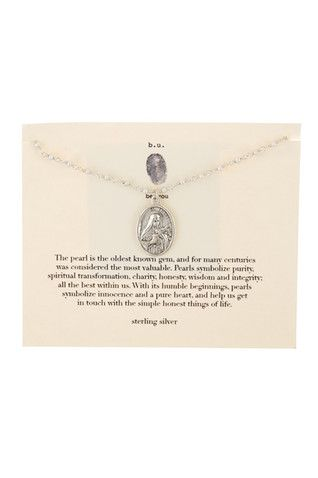 Sterling Silver St. Teresa Pendant Necklace
