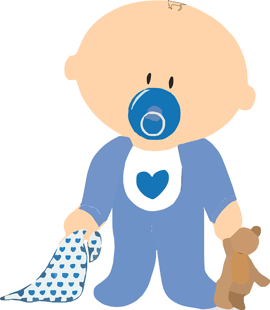 Free Image On Pixabay Baby Boy Teddy Pacifier Blanket Baby Clip Art Baby Cartoon Baby Boy Background