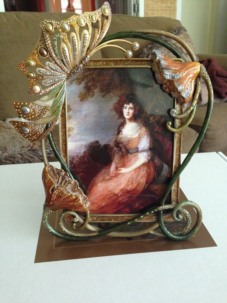 Jay Strongwater Art Nouveau butterfly frame   JAY STRONGWATER ...