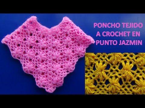 Poncho tejido a crochet para Niña de 4 a 5 años, tutorial paso a ...