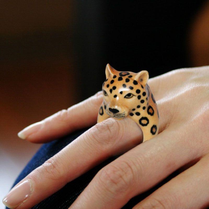 Leopardo Porcelana Anillo Nach Bijoux 76I0AZL1E