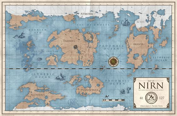 World Map of Nirn by okiir | cool art | Pinterest