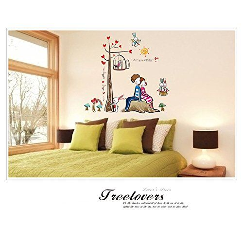 Ehepaar baum Wandtattoo Wandbilder für Kinderzimmer Wohnzimmer - amazon wandbilder wohnzimmer