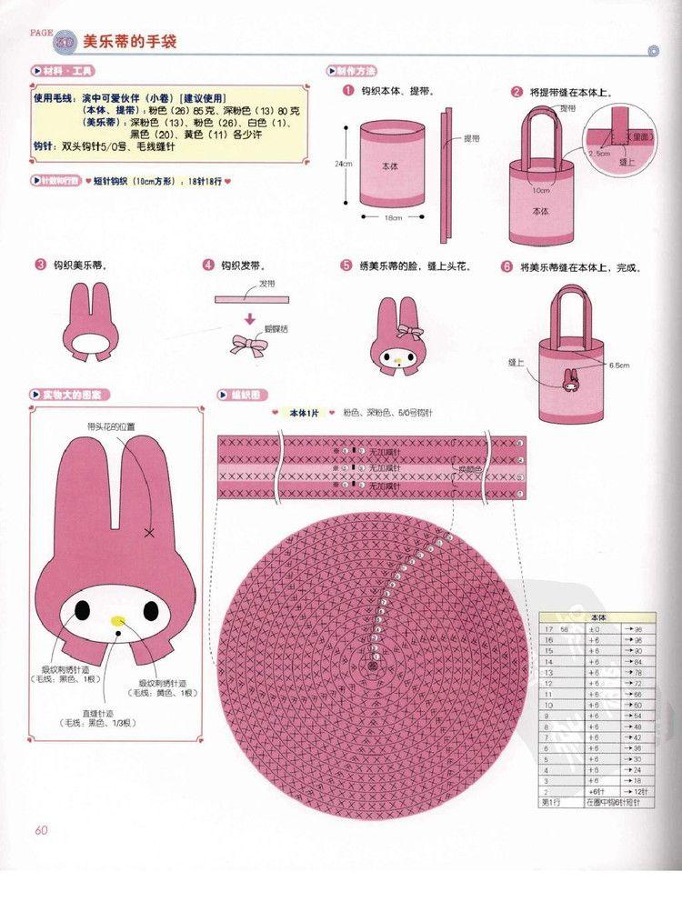 凯蒂猫钩针的基础 - cissy-xi - cissy-xi的博客 | 키티 | Pinterest