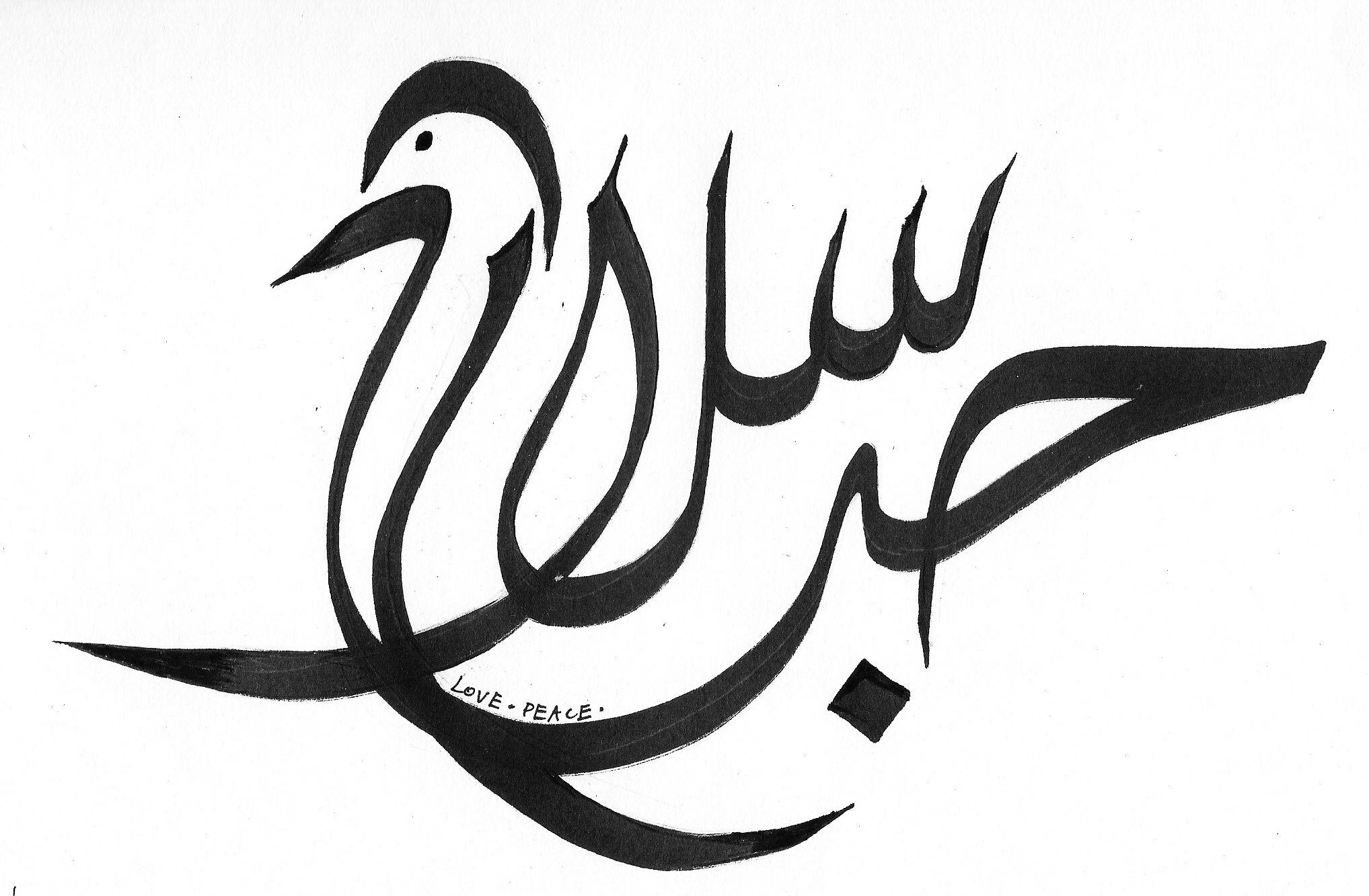 Arabic Symbol For Peace Love Peaceg Caligraphy Pinterest