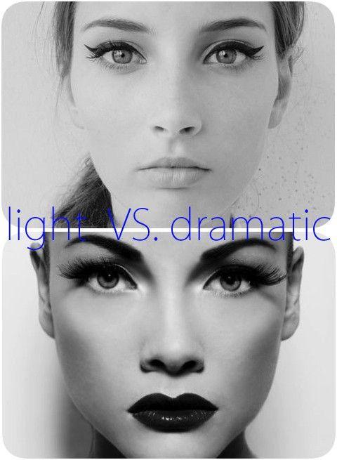 light vs dramatic makeup (same girl)
