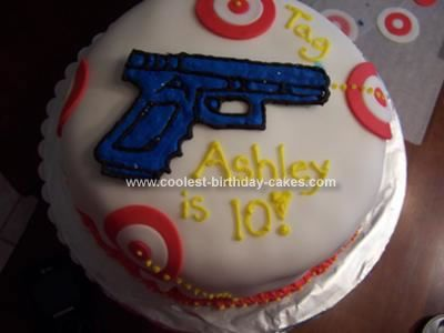 Cool DIY Laser Tag Cake Laser tag party Round cakes and Cake