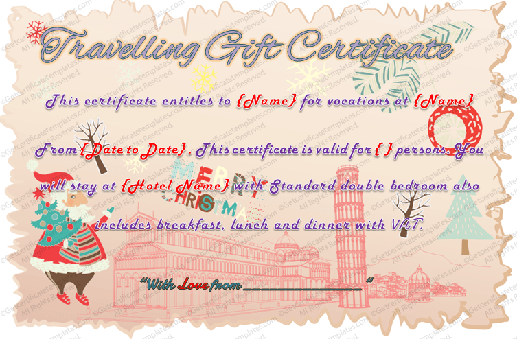 Colorful Border Gift Certificate Template