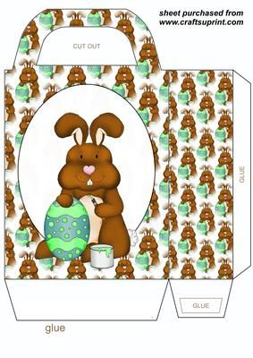 Easter bunny gift bag 2 on craftsuprint designed by stephen poore easter bunny gift bag 2 on craftsuprint designed by stephen poore easter bunny gift bag negle Choice Image