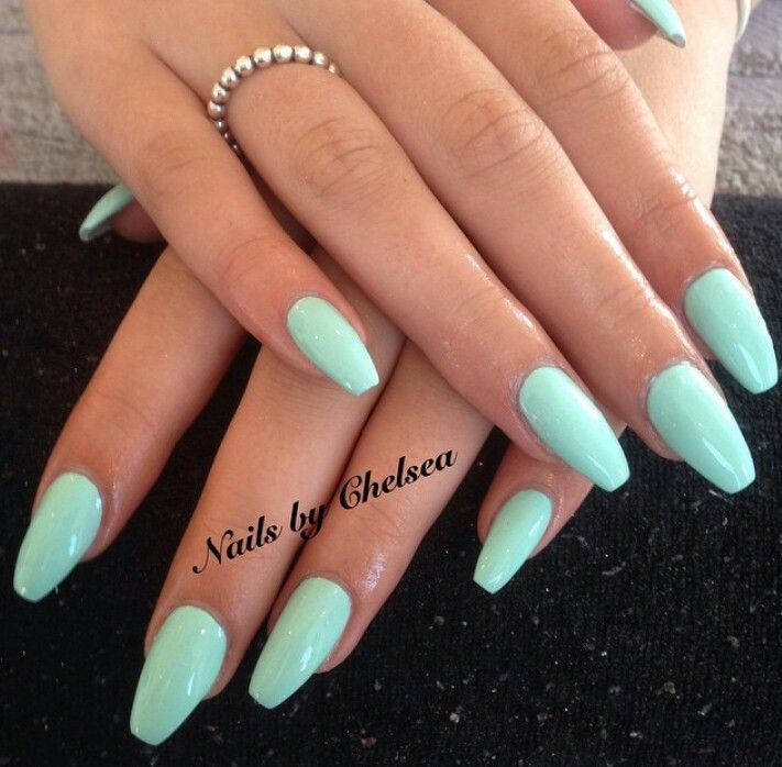Mint Green Coffin Nails Holiday Acrylic Nails Coffin Nails Designs Gorgeous Nails