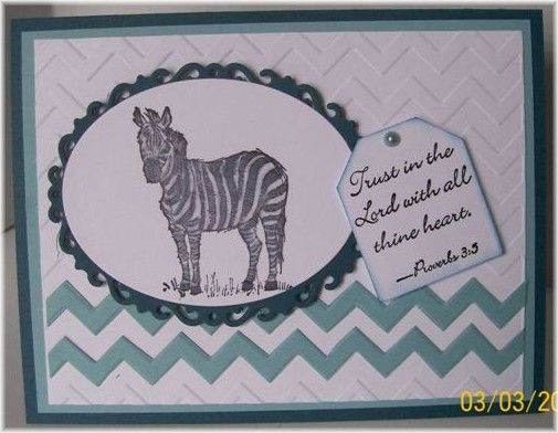 Stamps: Zoo Review Paper: Not Quite Navy, Baja Breeze, white Paper Size: A2 Ink: Black Techniques: hand cut chevrons, die cuts, embossin...