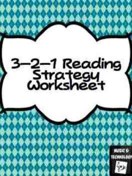 3 2 1 Reading Strategy Worksheet 3 Things That I Found Out 2