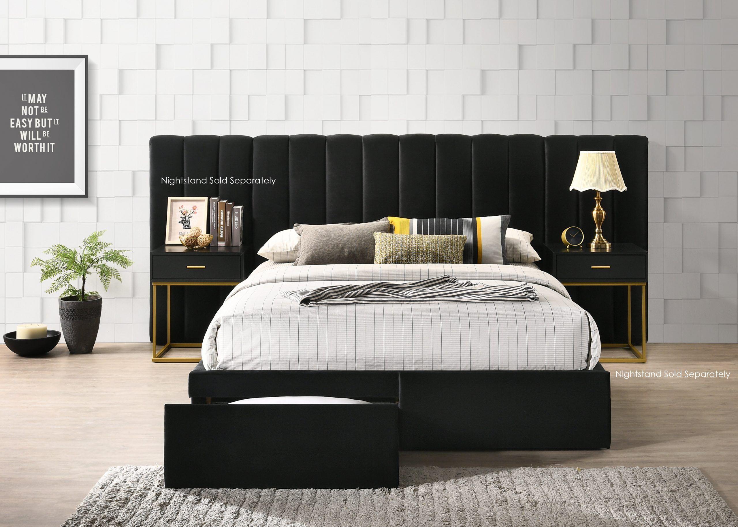 Wayfair Furniture Bedroom Set Stone Velvet Standard Configurable