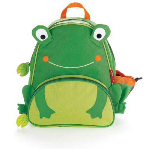 """Skip Hop Zoo Pack Little Kid Backpack, Frog by Skip Hop. $16.65. Insulated pouch for snacks and adjustable mesh bottle pocket. Write-on nametag inside. Roomy main compartment and padded, adjustable comfy straps. BPA free, phthalate-free, PVC free. Easy to clean lining. From the Manufacturer                The Zoo pack is the little kid backpack where """"fun meets function."""" Whimsical details and durable materials make this the perfect on-the-go pack for kids on-the-go.      ..."""
