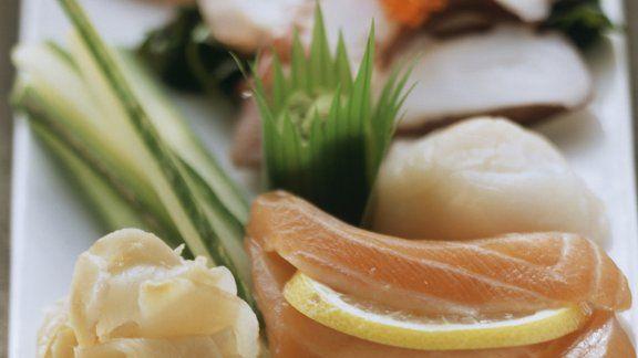 Rezept: Sashimi mit Lachs und Ingwer