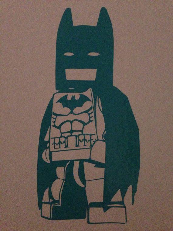 Lego Batman Style Wall Decal Lego Bedroom Decor Lego Room Lego