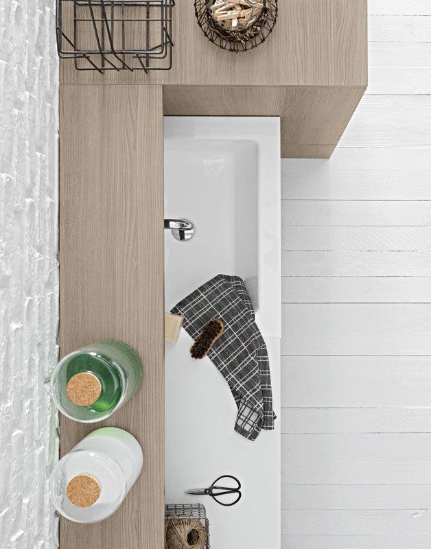 Arredamento bagno lavanderia by birex arredamento birex for Idea bagno trento