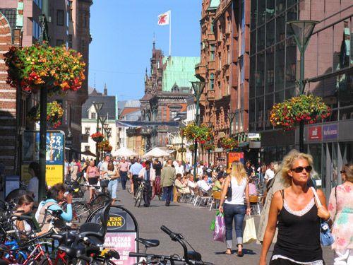 Walk streets in Malmo Sweden - loved it