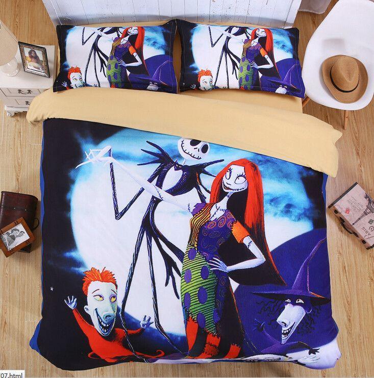 3D 4Pcs Brand Halloween Designer Christmas Bedding Adults Duvet