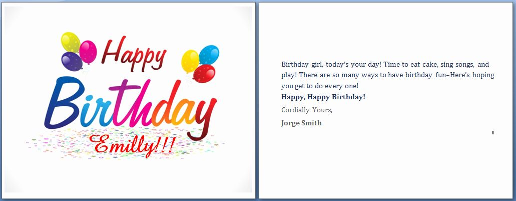 Birthday Card Template For Word Inspirational Ms Word Happy Birthday Cards Wor Birthday Card Template Free Birthday Invitation Card Template Free Birthday Card