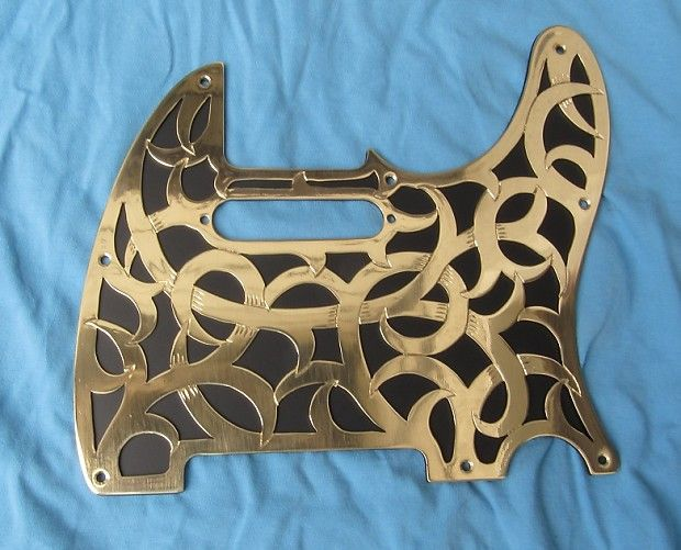 Handmade Metal Telecaster Guitar Pickguard By Ertmermusic Fender