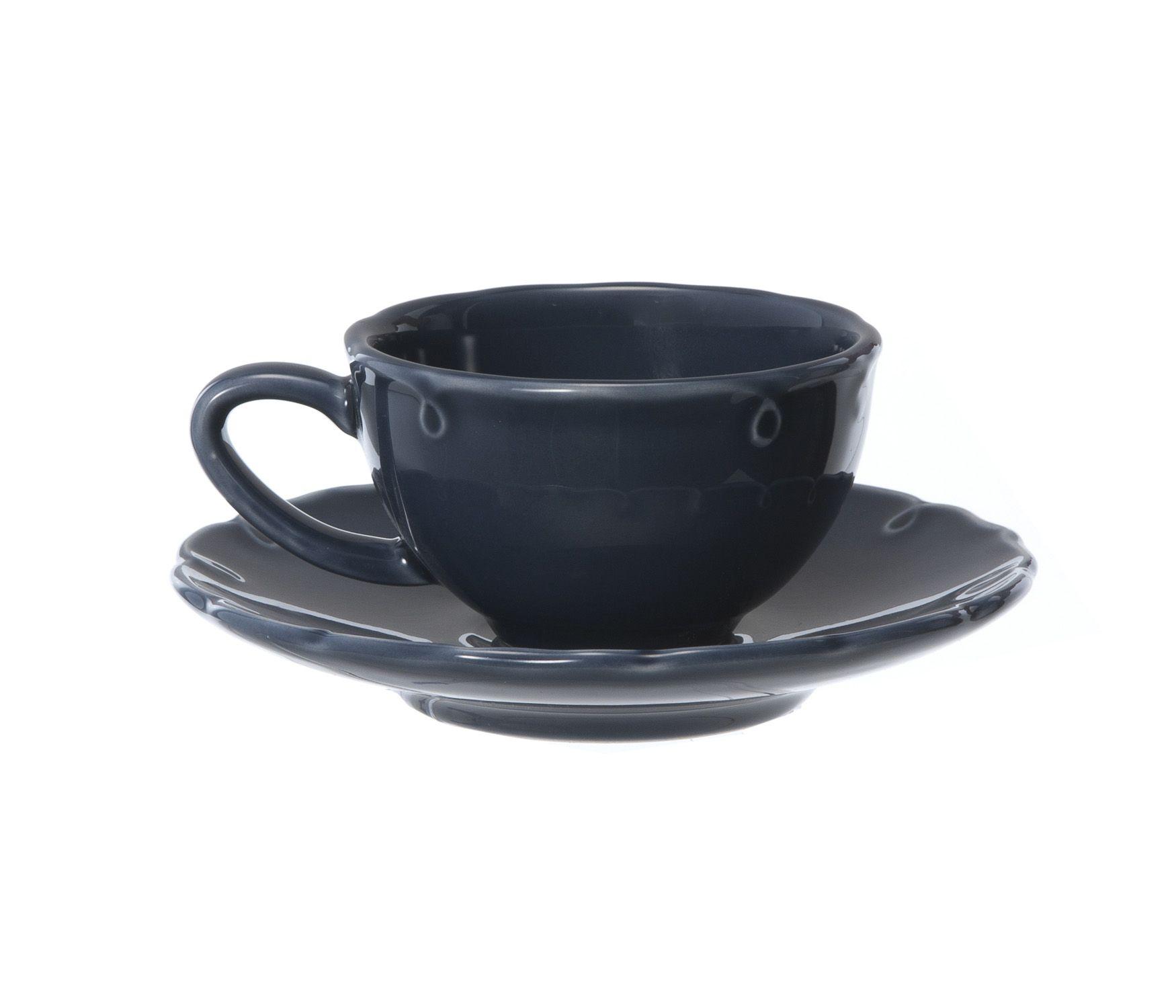 Xicara De Cha Victoria Azul Etna 1 Ou 2 Unidades Ceramica Azul Xicaras De Cha Azul