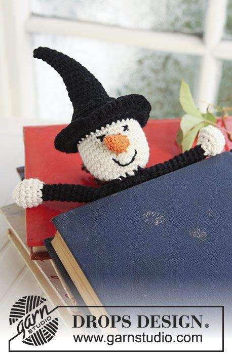 Marcador de página DROPS en ganchillo / crochet, con figura de bruja ...