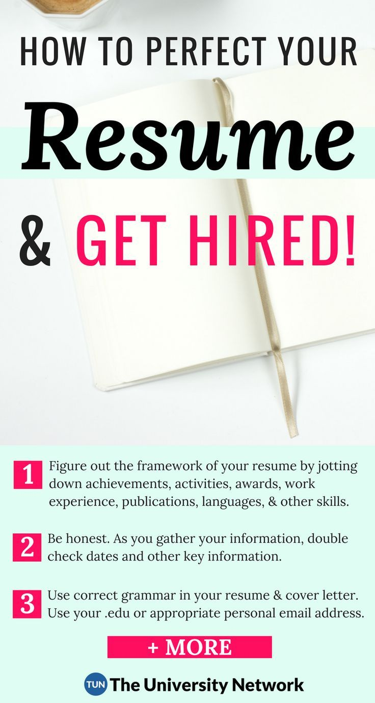 Perfect Your Resume The Complete Resume Guide For College Students  12 Rules For Resume .
