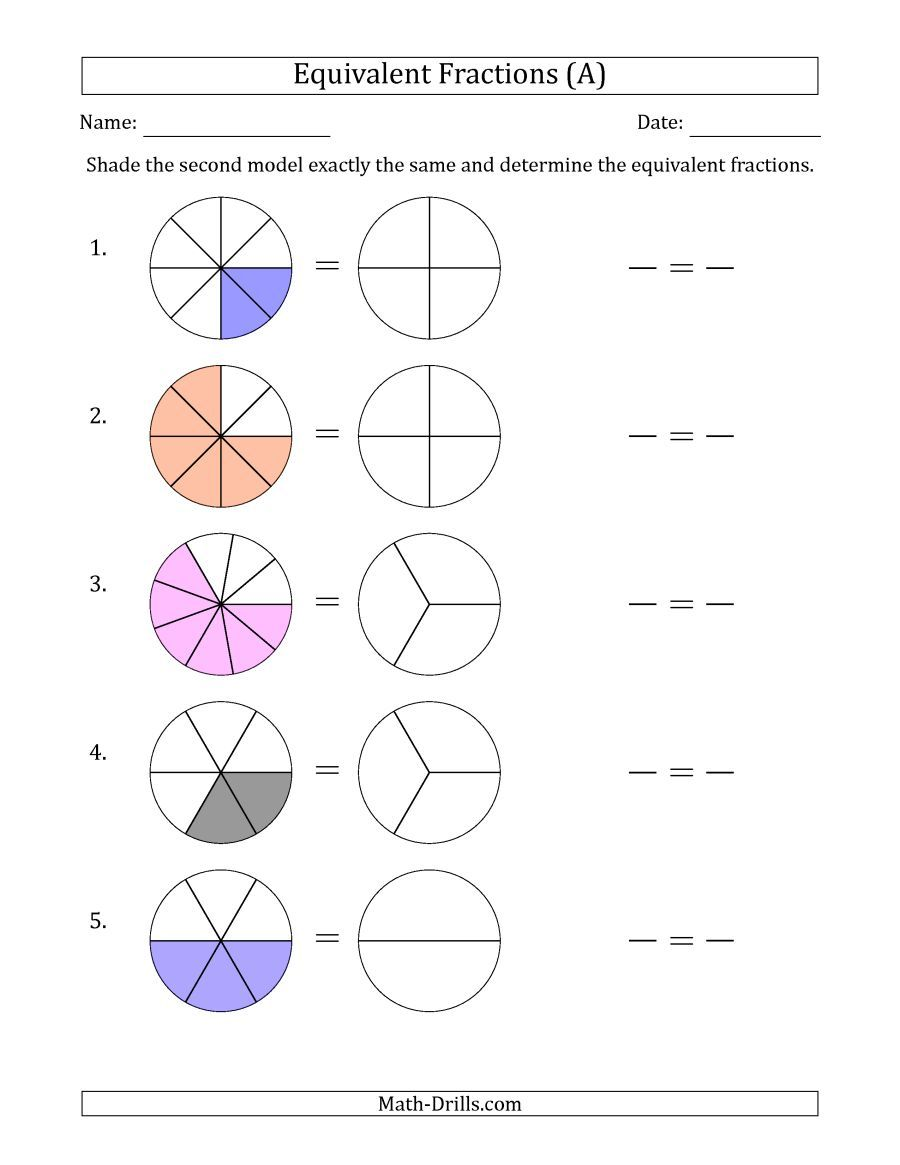 The Equivalent Fractions Models With The Simplified Fraction Second A Math Worksheet From The Fractions Math Fractions Equivalent Fractions Tape Diagram Math [ 1165 x 900 Pixel ]