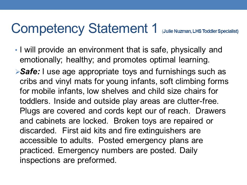 7 Cda Competency Statements Ideas Childhood Education Early Childhood Education Portfolio Examples