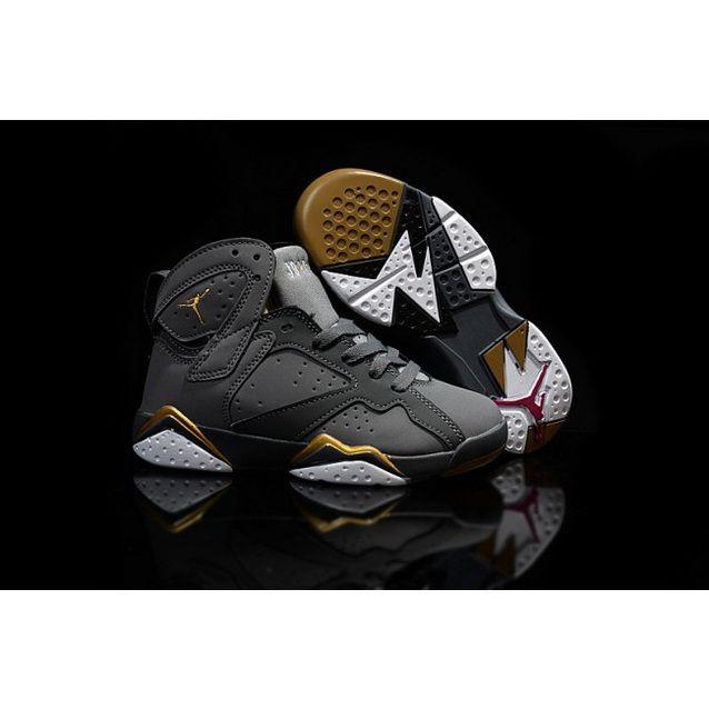 new style 7e32f d39b1 Nike Air Jordan 7 Retro Shoes For Kids Grey Gold   Nike Kids ...