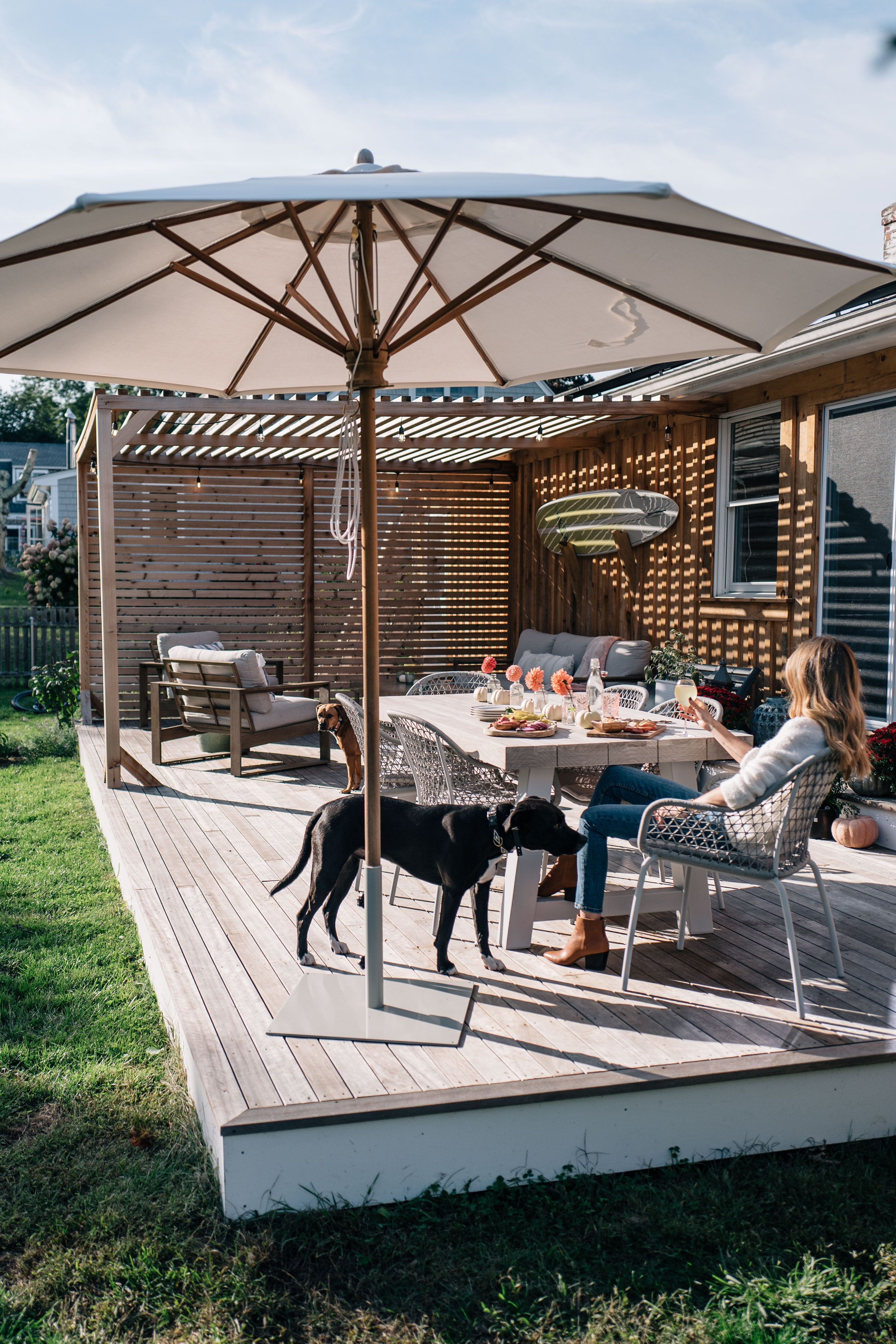Our porch pergola reveal a new outdoor dining set jess ann kirby