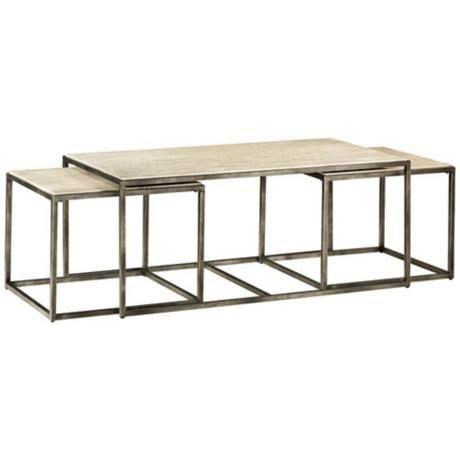 Modern Basics Rectangular 3 Piece Bronze Coffee Table Style