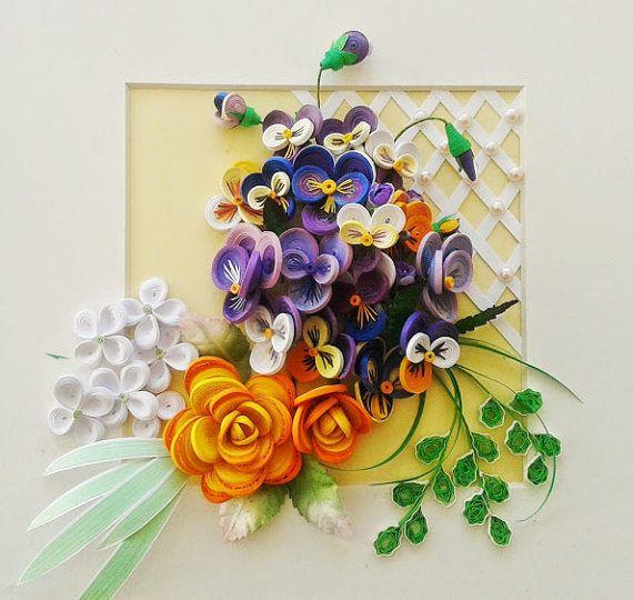 Paper Flower Bouquet Flower Botanical Art Floral Art Wall Decor