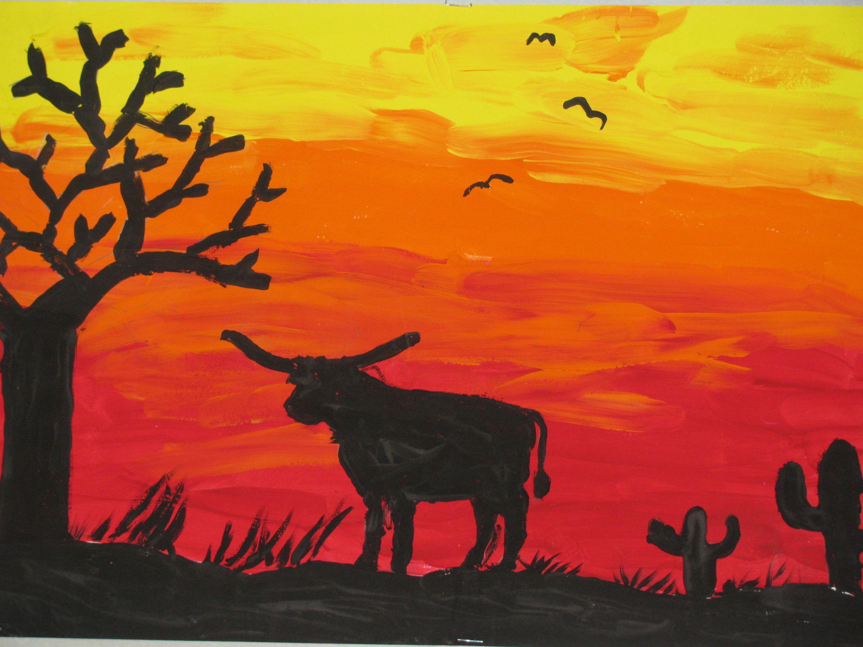 new city arts: second grade watercolor landscapes. This collage ... for silhouette art projects for kids  153tgx