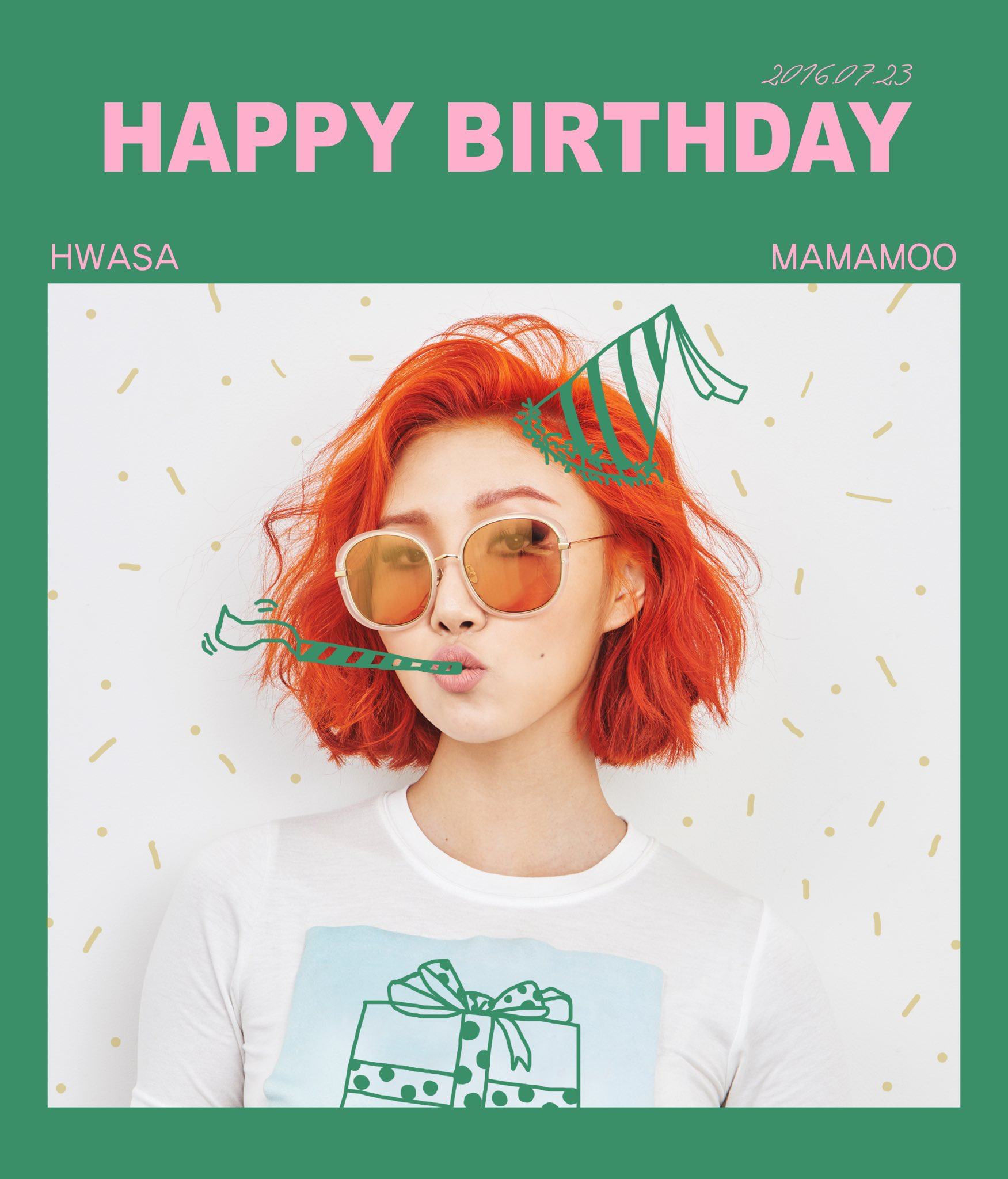 Happy Birthday Hawsa Mamamoo Hwasa Happy Birthday