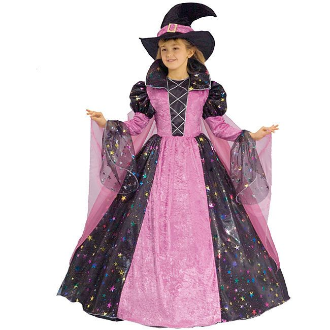 witch Hat with Spider print Halloween Kids Witch Fancy Dress Costume Items