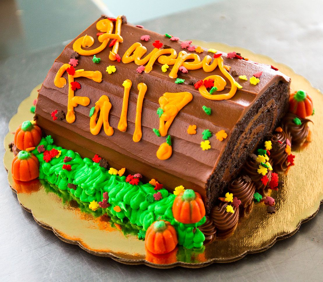 Happy Fall Cake Autumn Cake 019