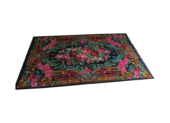 ENVÍO GRATIS Besarabia floral kilim alfombra 12.3x7.4ft