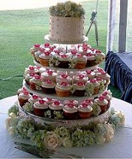 Wedding Cupcake Decorating Ideas: Economic Wedding Centerpieces