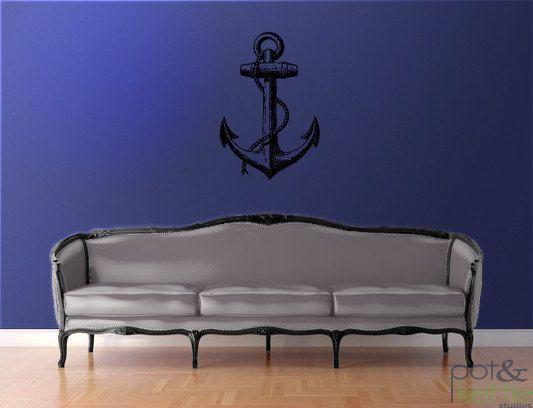 Anchor  vinyl wall decal sticker  large by potandkettlestudios, $42.00