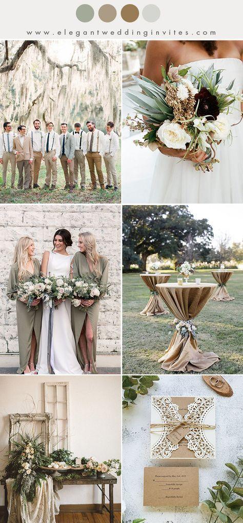 10 schicke erdfarbene Herbst- und Winterhochzeits-Farbkombinationen #weddingmenuideas